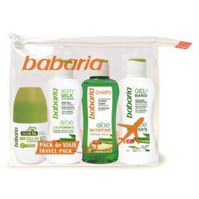 Boutique del Perfume: Babaria Aloe Champú Nutritivo 100ml + Gel De Baño 100ml + Body Milk 100ml + Olive Oil Desodorante Roll-on 50ml