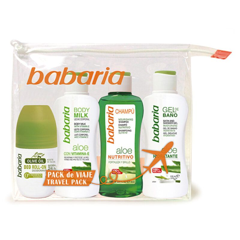 Boutique del Perfume: Babaria Aloe Champú Nutritivo 100ml + Gel De Baño 100ml + Body Milk 100ml + Olive Oil Desodorante Roll-on 50ml