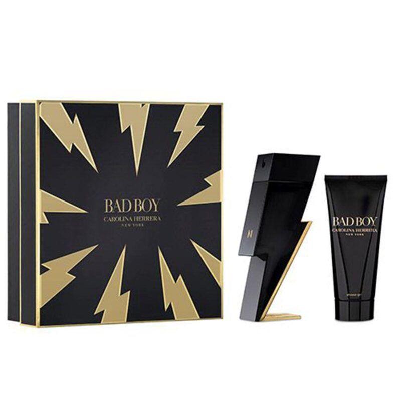 Boutique del Perfume: Carolina Herrera Bad Boy Eau De Toilette 100ml + Gel De Baño + Neceser 1u