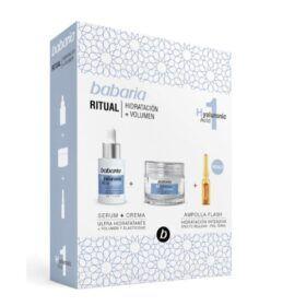 Boutique del Perfume: Babaria Hyaluronic Acid Serum Ultra-hidratante 82ml + Crema 50ml + Tratamiento Flash Ampolla 1u.